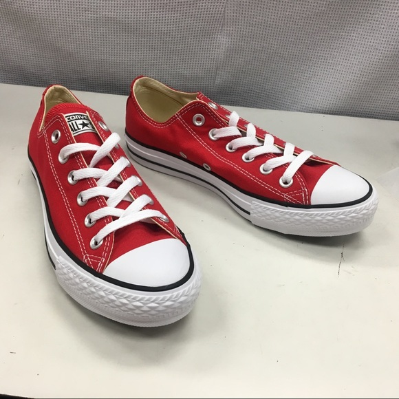 8a73e1240dba5f Converse Shoes | Womens Red Low Tops | Poshmark